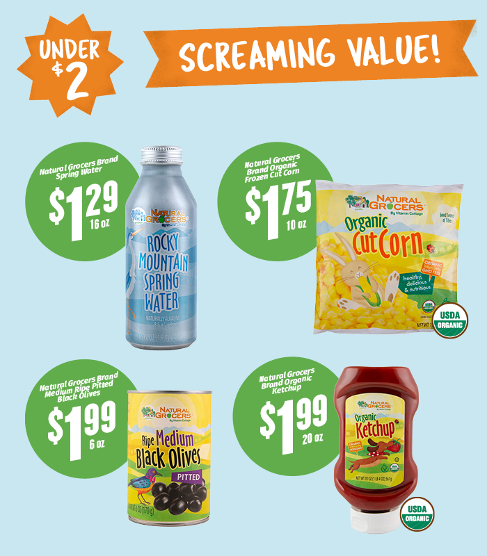 Under $2 Screaming Values