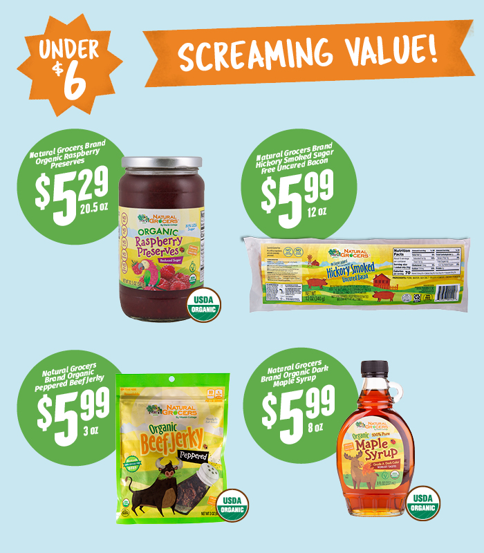Screaming Values Under$6