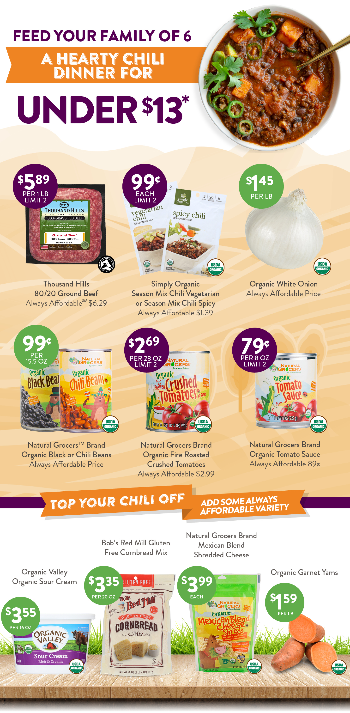Chili meal deal pricing