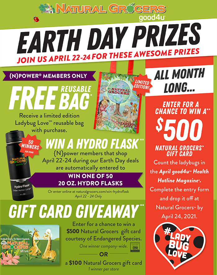 Earth day free bag and sweepstakes