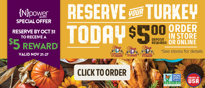 Reserve your turkey today!