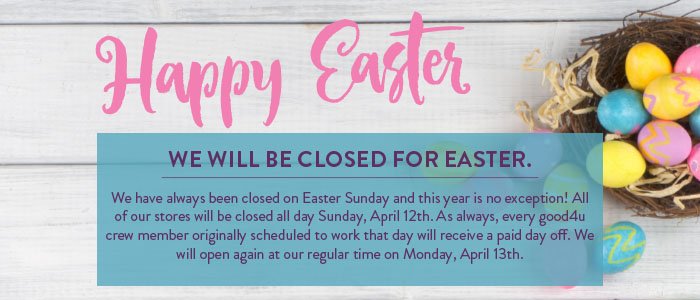 Easter Day Store Closures