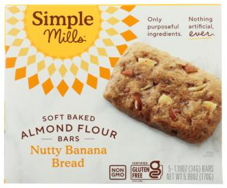 SOFT BKD BAR BANANA BREAD GF 5 CT